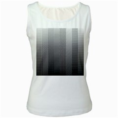 Semi Authentic Screen Tone Gradient Pack Women s White Tank Top
