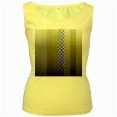Semi Authentic Screen Tone Gradient Pack Women s Yellow Tank Top