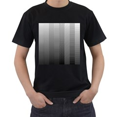 Semi Authentic Screen Tone Gradient Pack Men s T-Shirt (Black) (Two Sided)
