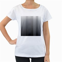 Semi Authentic Screen Tone Gradient Pack Women s Loose-Fit T-Shirt (White)