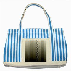 Semi Authentic Screen Tone Gradient Pack Striped Blue Tote Bag