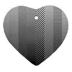 Semi Authentic Screen Tone Gradient Pack Heart Ornament (Two Sides)