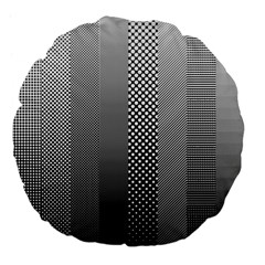 Semi Authentic Screen Tone Gradient Pack Large 18  Premium Flano Round Cushions