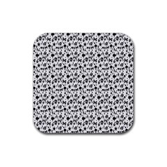 Skulls Face Mask Bone Cloud Rain Rubber Square Coaster (4 pack)