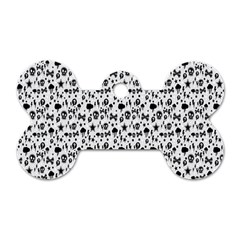 Skulls Face Mask Bone Cloud Rain Dog Tag Bone (One Side)