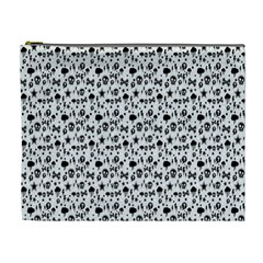 Skulls Face Mask Bone Cloud Rain Cosmetic Bag (XL)