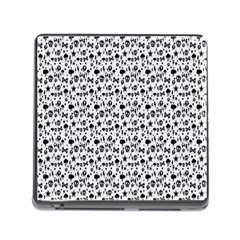 Skulls Face Mask Bone Cloud Rain Memory Card Reader (Square)