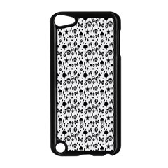 Skulls Face Mask Bone Cloud Rain Apple iPod Touch 5 Case (Black)