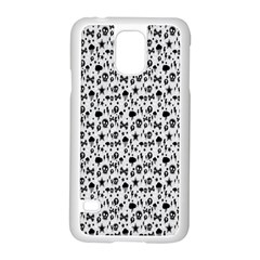 Skulls Face Mask Bone Cloud Rain Samsung Galaxy S5 Case (White)