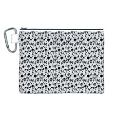 Skulls Face Mask Bone Cloud Rain Canvas Cosmetic Bag (L)
