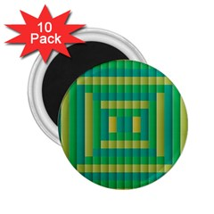Pattern Grid Squares Texture 2.25  Magnets (10 pack)