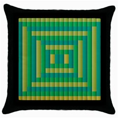 Pattern Grid Squares Texture Throw Pillow Case (Black)