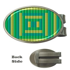 Pattern Grid Squares Texture Money Clips (Oval)