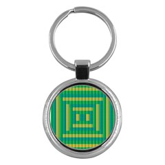 Pattern Grid Squares Texture Key Chains (Round)