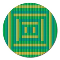 Pattern Grid Squares Texture Magnet 5  (Round)