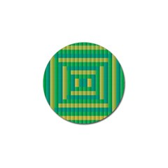 Pattern Grid Squares Texture Golf Ball Marker