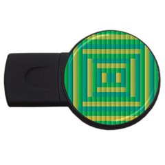 Pattern Grid Squares Texture Usb Flash Drive Round (2 Gb)