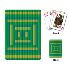 Pattern Grid Squares Texture Playing Card