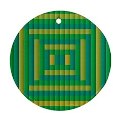 Pattern Grid Squares Texture Round Ornament (Two Sides)