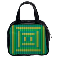 Pattern Grid Squares Texture Classic Handbags (2 Sides)