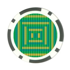 Pattern Grid Squares Texture Poker Chip Card Guard (10 Pack)