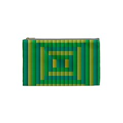 Pattern Grid Squares Texture Cosmetic Bag (Small)