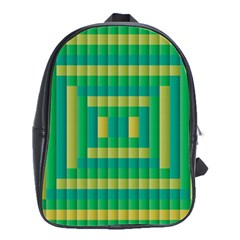 Pattern Grid Squares Texture School Bags(Large)