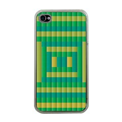 Pattern Grid Squares Texture Apple Iphone 4 Case (clear)