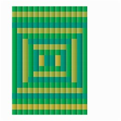 Pattern Grid Squares Texture Small Garden Flag (Two Sides)