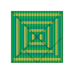 Pattern Grid Squares Texture Acrylic Tangram Puzzle (4  X 4 )