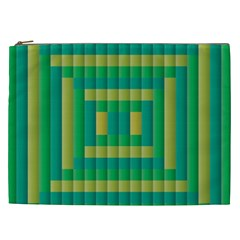 Pattern Grid Squares Texture Cosmetic Bag (XXL)