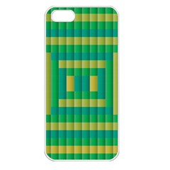 Pattern Grid Squares Texture Apple Iphone 5 Seamless Case (white)