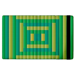 Pattern Grid Squares Texture Apple iPad 3/4 Flip Case