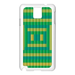 Pattern Grid Squares Texture Samsung Galaxy Note 3 N9005 Case (White)