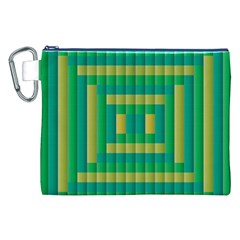 Pattern Grid Squares Texture Canvas Cosmetic Bag (XXL)
