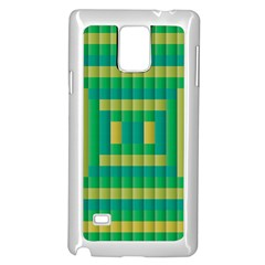 Pattern Grid Squares Texture Samsung Galaxy Note 4 Case (White)