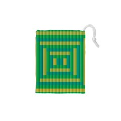 Pattern Grid Squares Texture Drawstring Pouches (XS)