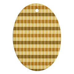 Pattern Grid Squares Texture Ornament (Oval)