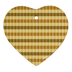 Pattern Grid Squares Texture Ornament (Heart)
