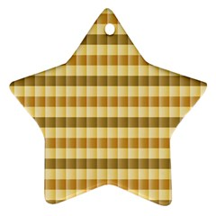 Pattern Grid Squares Texture Ornament (Star)