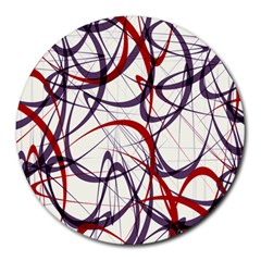 Purple Red Round Mousepads