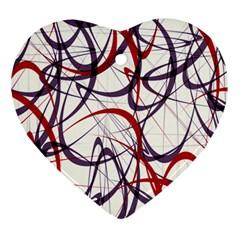Purple Red Ornament (heart)