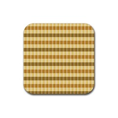 Pattern Grid Squares Texture Rubber Coaster (Square)
