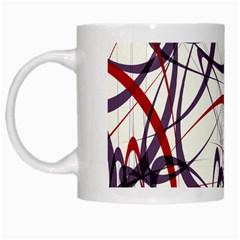 Purple Red White Mugs