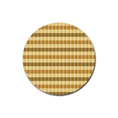 Pattern Grid Squares Texture Rubber Round Coaster (4 pack)