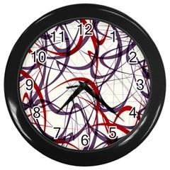 Purple Red Wall Clocks (Black)