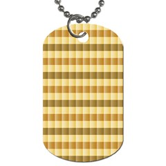 Pattern Grid Squares Texture Dog Tag (Two Sides)