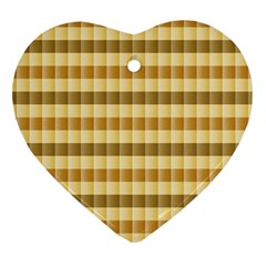 Pattern Grid Squares Texture Heart Ornament (two Sides)