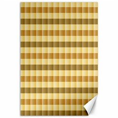 Pattern Grid Squares Texture Canvas 12  x 18