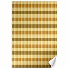Pattern Grid Squares Texture Canvas 24  x 36